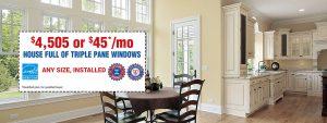 House Full Triple Pane Window